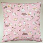 Cushion Cover in Cath Kidston Pink Squiggle Cats 16""